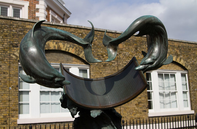 Dolphin Sundial at the Royal Observatory, Greenwich