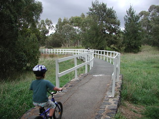 Jack Sam & Lucy on bike ride from Scullin to Higgins & back!