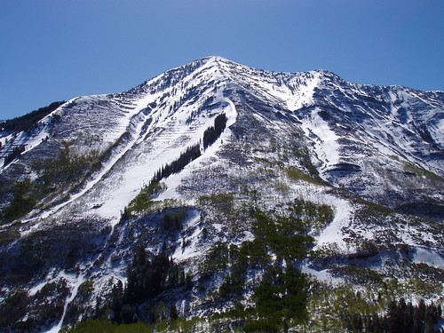 The west ridge of Provo Peak.