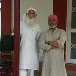 Sunderlal Bahuguna and Anil Prakash Joshi at HESCO center, Derhadun