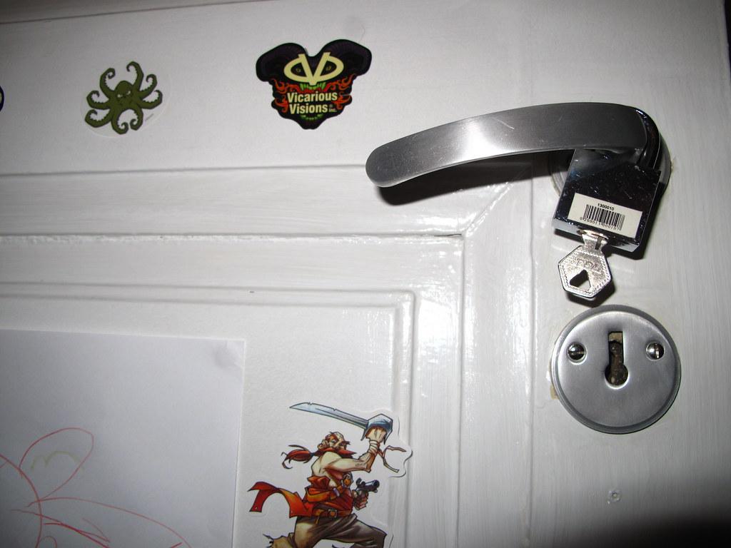 Pre-teen idea of locked room. | Fine by me... | Gudlin ...