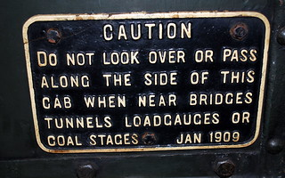 GWR cast sign