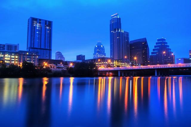 Austin skyline at blue hour