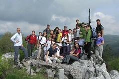 015. Il gruppo Montikids dal CAI Gorizia sul monte San Lorenzo, 799 m (Altopiano della Bainsizza).
