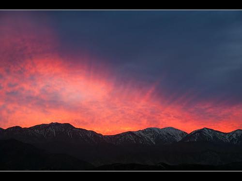 california sunset sky snow mountains gabriel landscape san pass cajon 2010 muzzlehatch