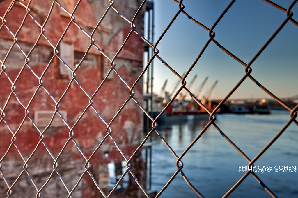 Through the Fence at the Martingale Wharf by Philip Case Cohen