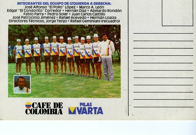 Cafe de Colombia 1986 Vuelta b