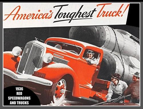 Vintage truck ad, 1936, REO Speedwagon | Flickr - Photo Sharing!