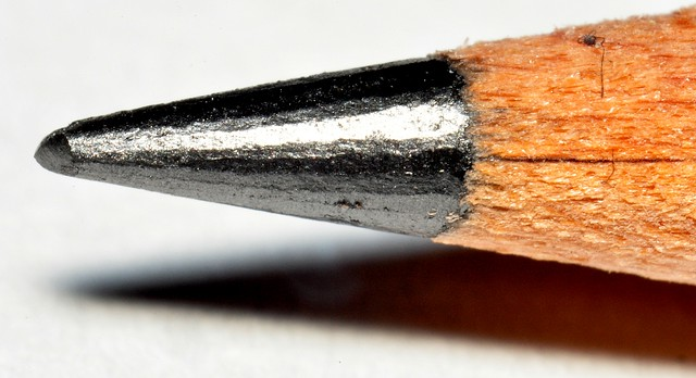 Graphite pencil tip