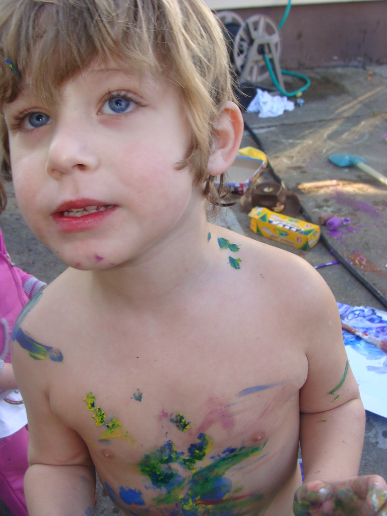 our kids are artsy | Joshua will surely be a nudist when