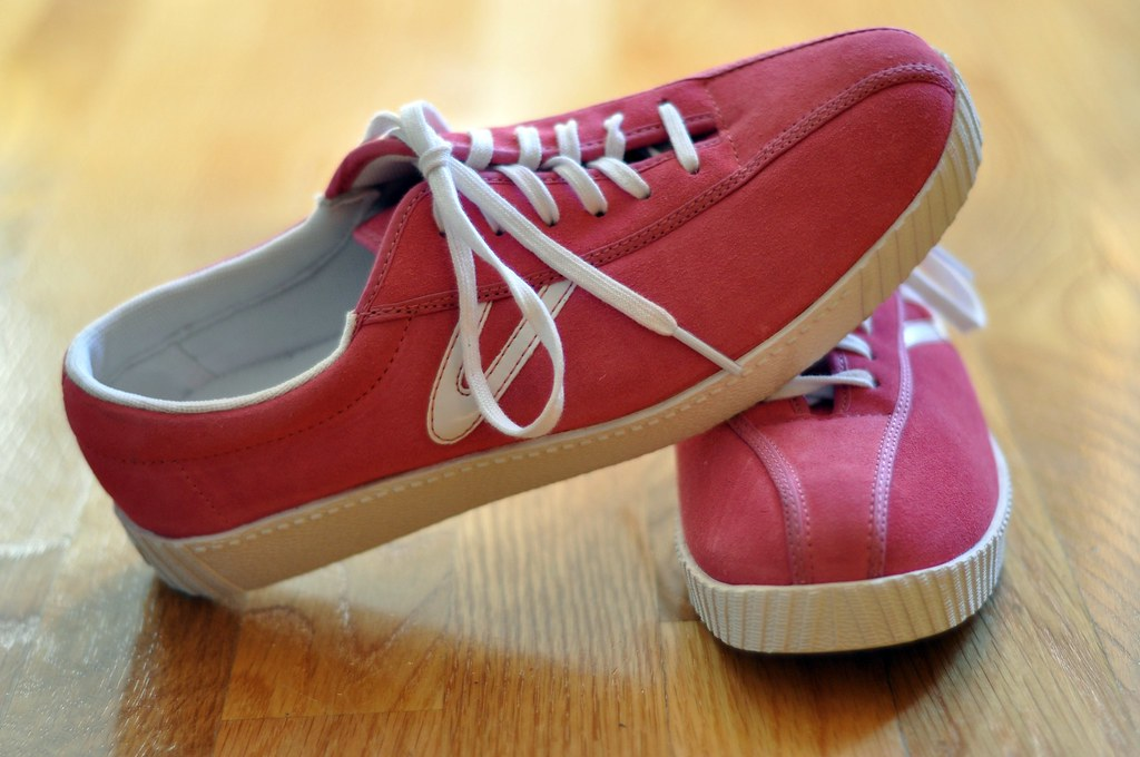 Pink Suede Tretorns   These shoes are for Vivienne. Pink sue…   Flickr