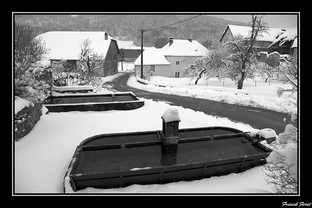 lavoir d'amathay vesigneux sous la neige