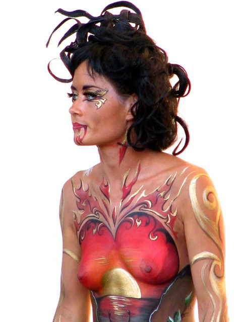 Sexy Painted Lady At New Zealand Body Art Festival 2010 Flickr