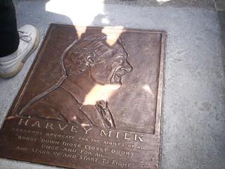 Harvey Milk Plaque outside his old camera store, 575 castro, dedicated 5/22/10
