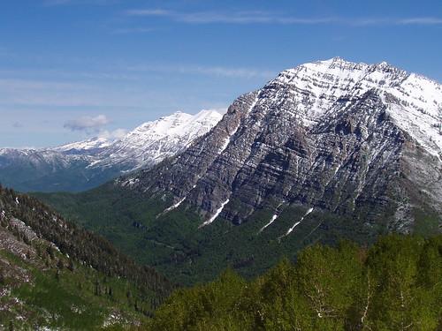 Lone Peak, Timpanogos, and Cascade Mountain from the west ridge of Provo Peak.