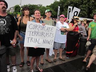 NOLA BP Oil Flood Protest Corporate Terrorists
