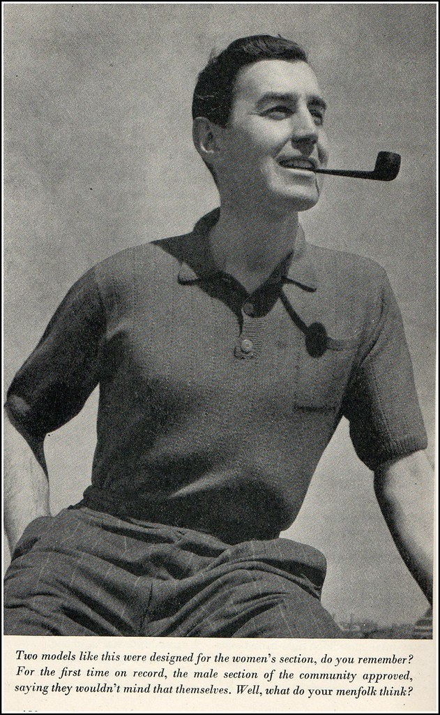 Fashion On The Couch 1940 S Fashion For Men: Another Man And His Pipe! Found In