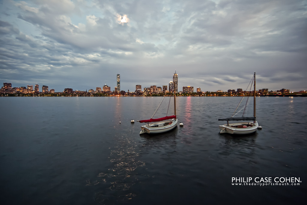 Boston from The Charles by Philip Case Cohen