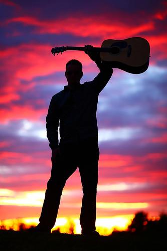 sunset arizona colors colorful guitar guitars az stunning gilbert silhoutte acousticguitar phoenixmetro canoneos5dmarkiicamera grantbrummett canonef85mmf12lusmlens joeyfehrenbach