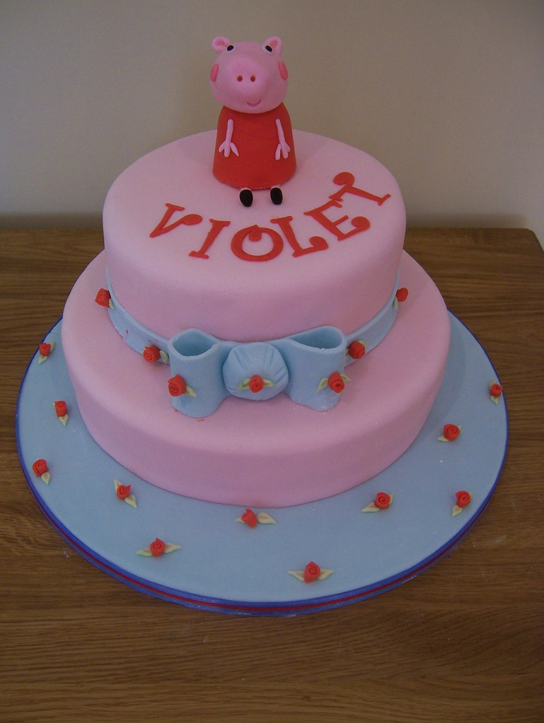 Fabulous Peppa Pig Birthday Cake Cath Kidston Style This Was My L Flickr Personalised Birthday Cards Bromeletsinfo