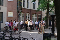 tourists on tandems