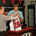 GM Gar Forman presents Kyle Korver his new Bulls jersey