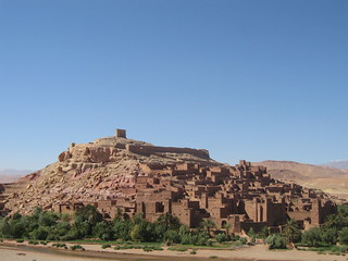 The ksar of Aït Benhaddou - the view from the roof terrace of La Fibule d'Or   by Mary Loosemore