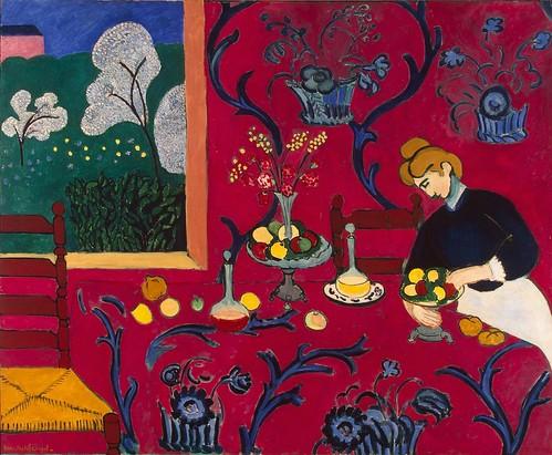 Henri Matisse The Red Room 1908 In His Paris Studio