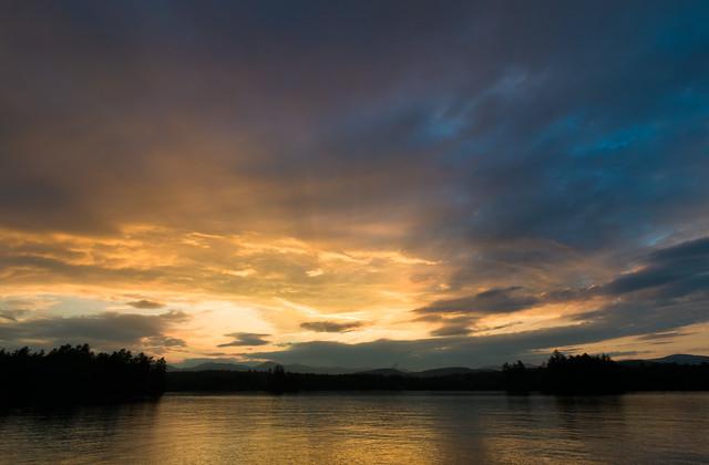 Sunset on the Lake - Kezar Lake, Maine