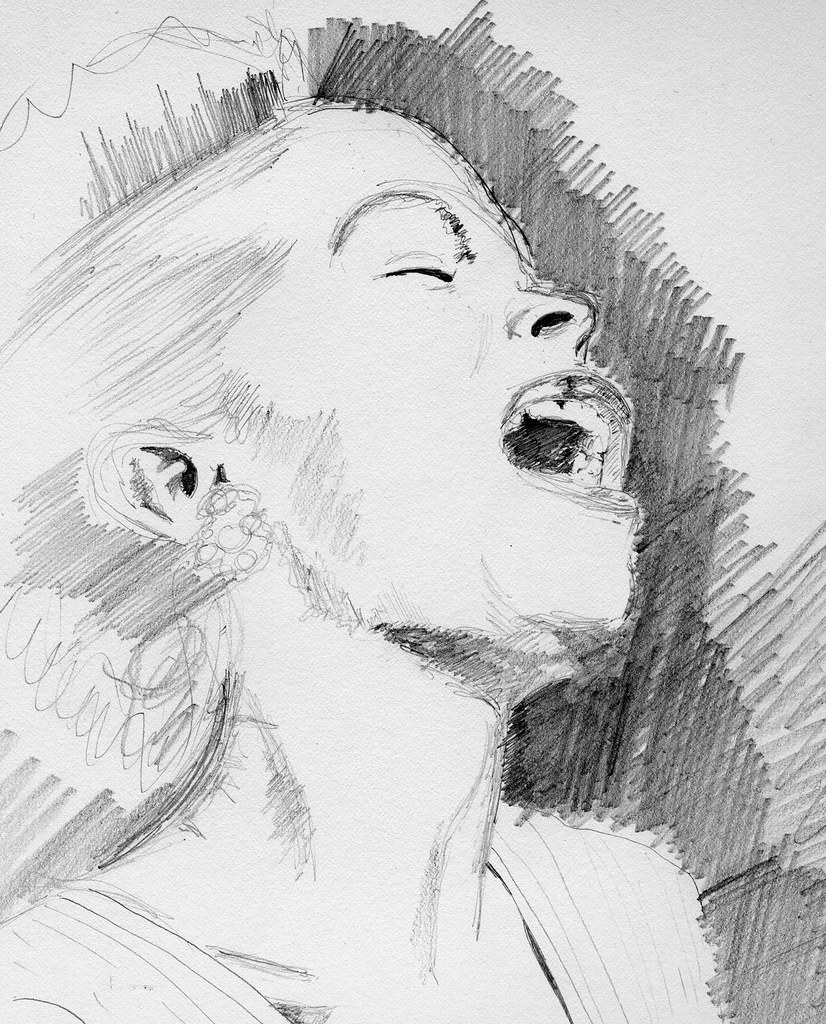 Pencil drawing billie holiday a quick drawing in hb penc flickr