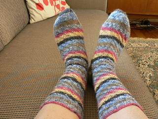 Spirally striped socks from the top 2 | by :Salihan