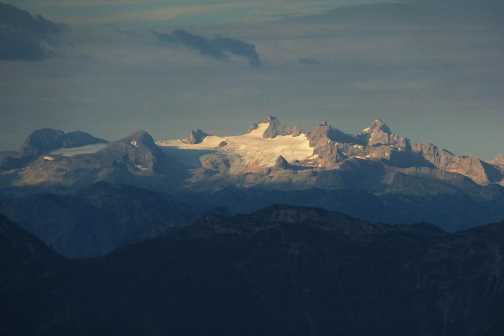 Dachstein glacier at sunrise