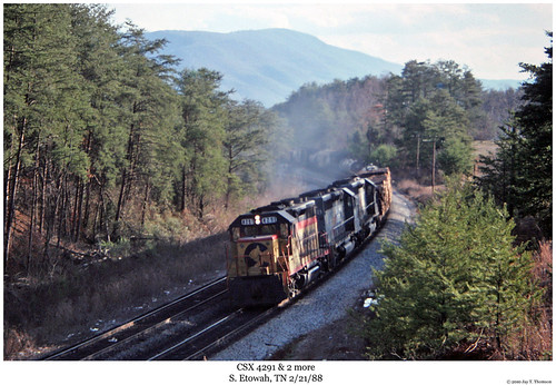 railroad train diesel tennessee railway trains locomotive trainengine chessie csx geep sbd etowah emd gp402 gp40 chessiesystem seaboardsystem fouraxle