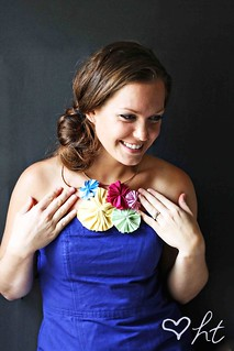 The Round Fabric Pinwheel Necklace | by ohsohappytogether