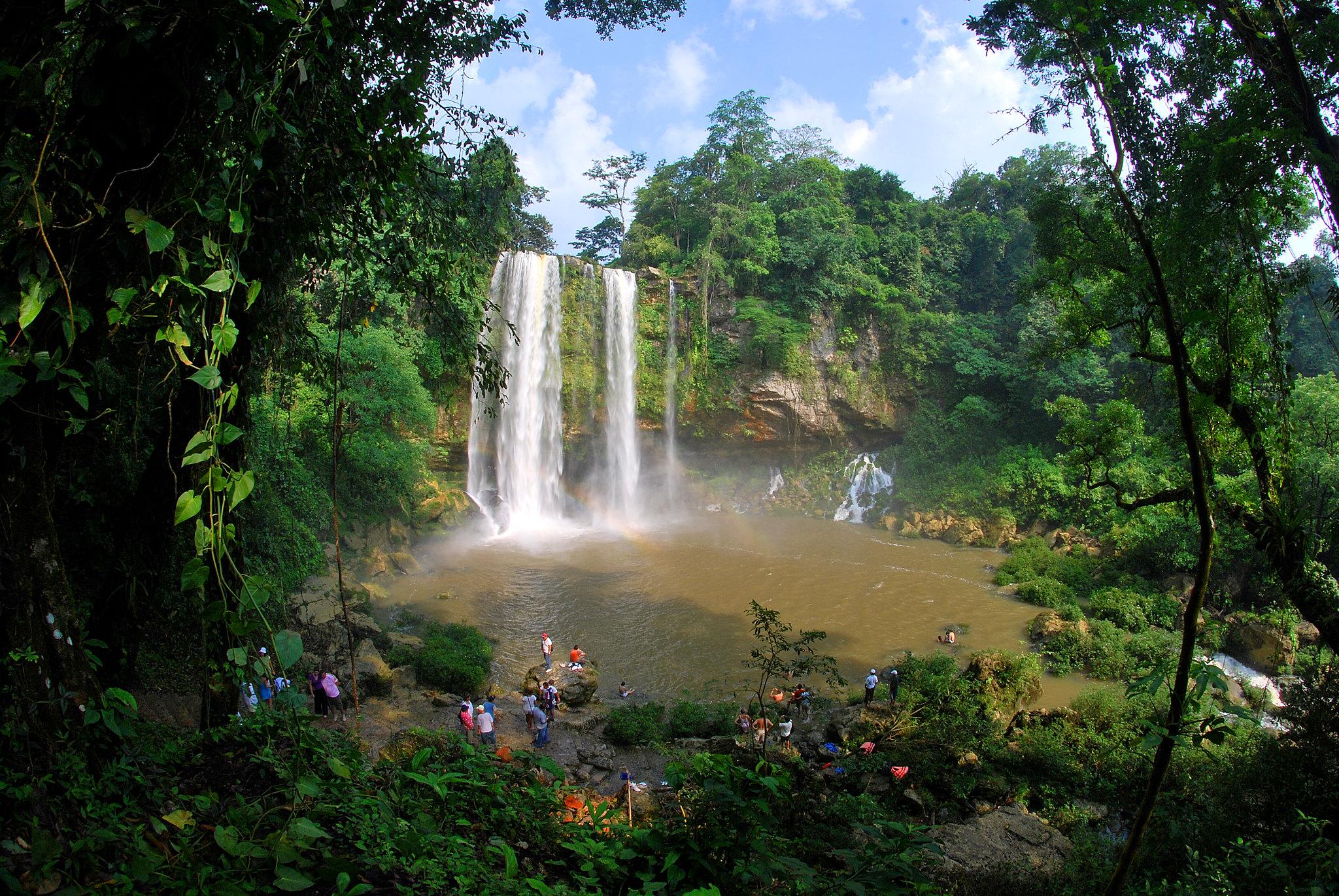 Misol Ha en Chiapas.