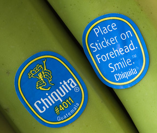 Chiquita; Place Sticker on Forehead. Smile.   by Dawn Huczek