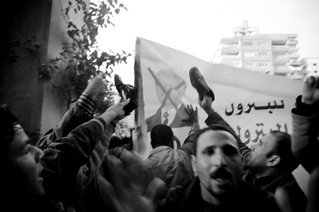 Oil and Gas Workers on Strike إضراب عمال البترول والغاز