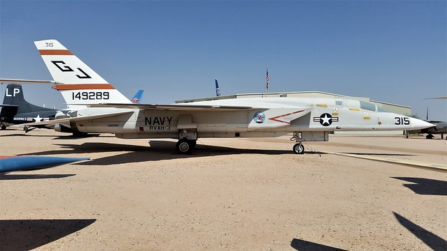 RA-5C Vigilante 149289/GJ-315 RVAH-3 colours, ex U.S.Navy. Preserved, Pima Air-Museum, Tucson, Arizona. 06 June 2016.