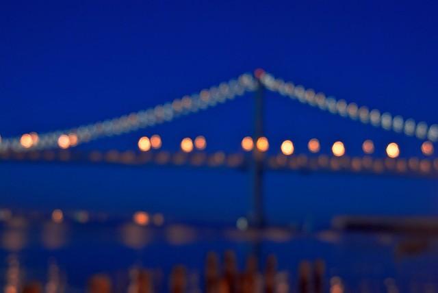 Bay Bridge bokeh