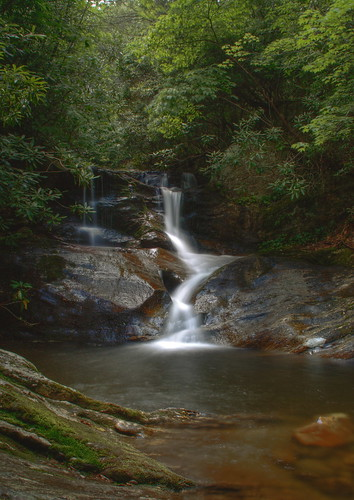 mountains nature pool creek waterfall nc moss rocks northcarolina hdr naturephotography pisgahnationalforest yanceycounty waterfallphotography fallsonwhiteoakcreek davidhopkinsphtotography ncpedia