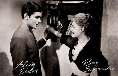 Alain Delon and Romy Schneider in Christine (1958)