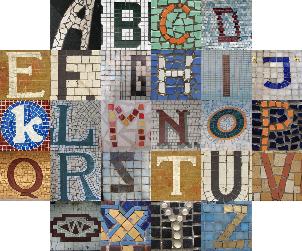 Mosaic letters II | Postings to the Themed Alphabets pool du