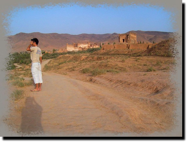 Very old kasbah on the Atlas mountaine in Morocco-Atlas hegység.Marokkó.