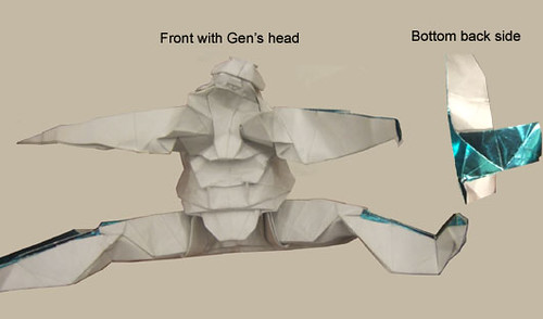 HOW TO MAKE 3D ORIGAMI CLONE TROOPER TUTORIAL || DIY 3D ORIGAMI ... | 294x500