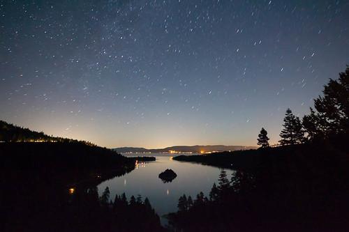 Stars at Lake Tahoe | Stars on a moonless Summer night at