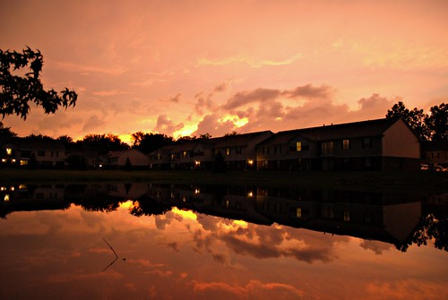 sunset sky storm reflection clouds evening pond nikon colorful moody afterthestorm michigan annarbor dramatic thunderstorm goldenhour d3000 sigma1770f284dcmacroos