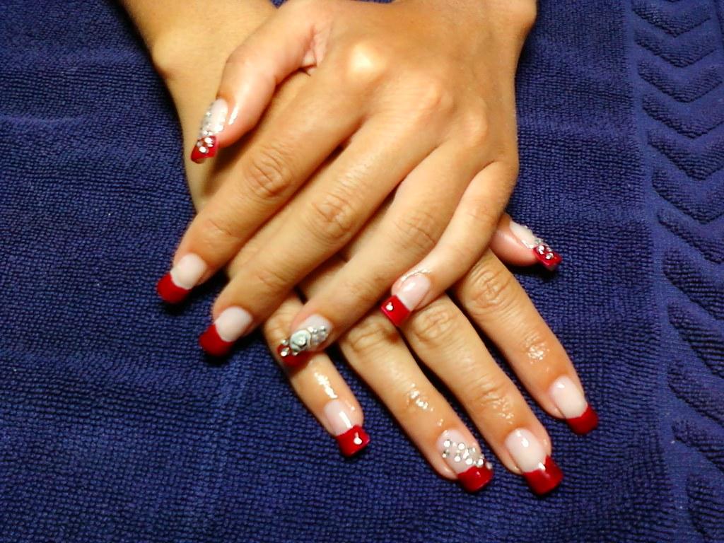 Uñas De Gel Rojas Vermelhas Manos De Graça Emilia