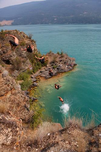 cliff jumping okanagan diving kal kallake kalamalka kallakecliffs