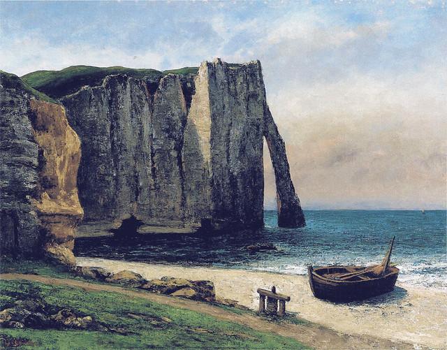Gustave Courbet:  La falaise d'Étretat ( 1869)