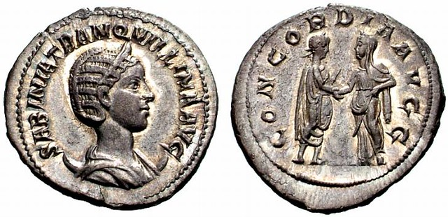 RI192 A Rare Roman Silver Antoninianus of Tranquillina, Third Wife of Gordian III (238-244 C.E.), Probably the Finest Known